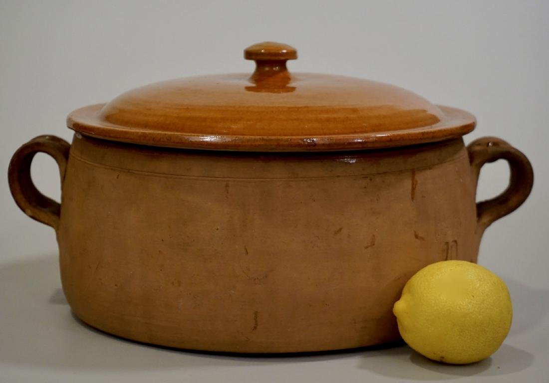 Vintage Clay Cooking Pot Original Lid