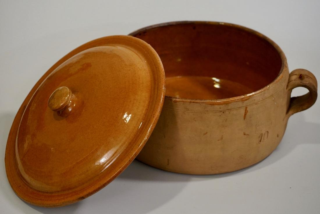Vintage Clay Cooking Pot Original Lid - 2