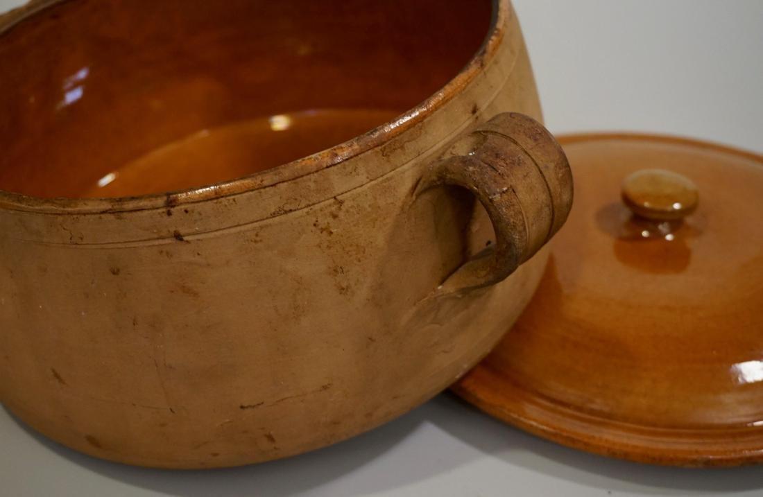 Vintage Clay Cooking Pot Original Lid - 4