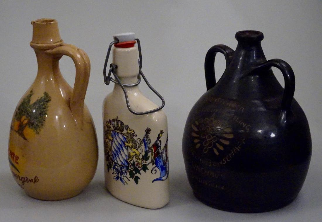 Vintage Pottery Flasks Jugs Bottles Lot of 3 - 2