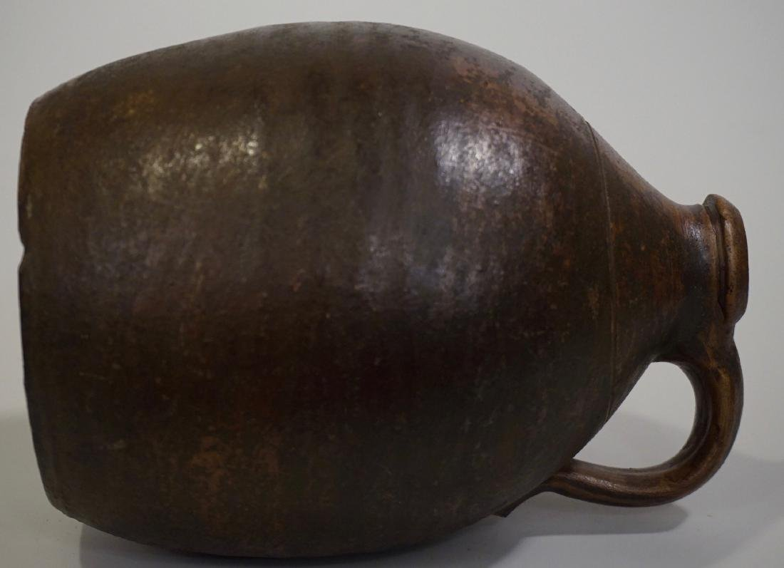 Brown Salt Glazed Antique Ceramic Ovoid Jug Stoneware - 8