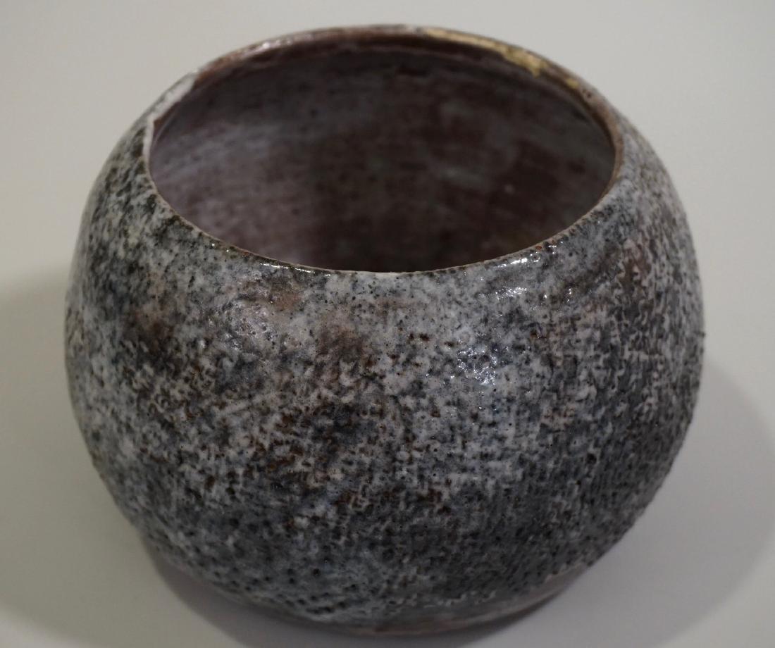 Granite Ware Pottery Bowl Signed Studio Mid century