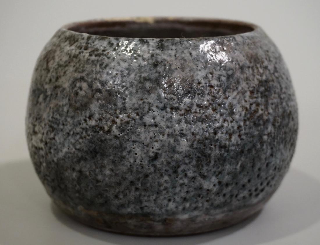 Granite Ware Pottery Bowl Signed Studio Mid century - 2