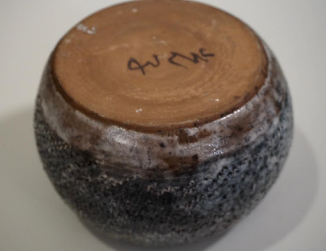 Granite Ware Pottery Bowl Signed Studio Mid century - 4