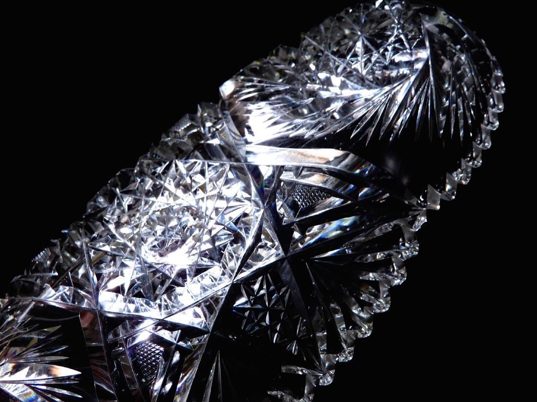 American Brilliant Period Pinwheel Cut Crystal Tray - 4