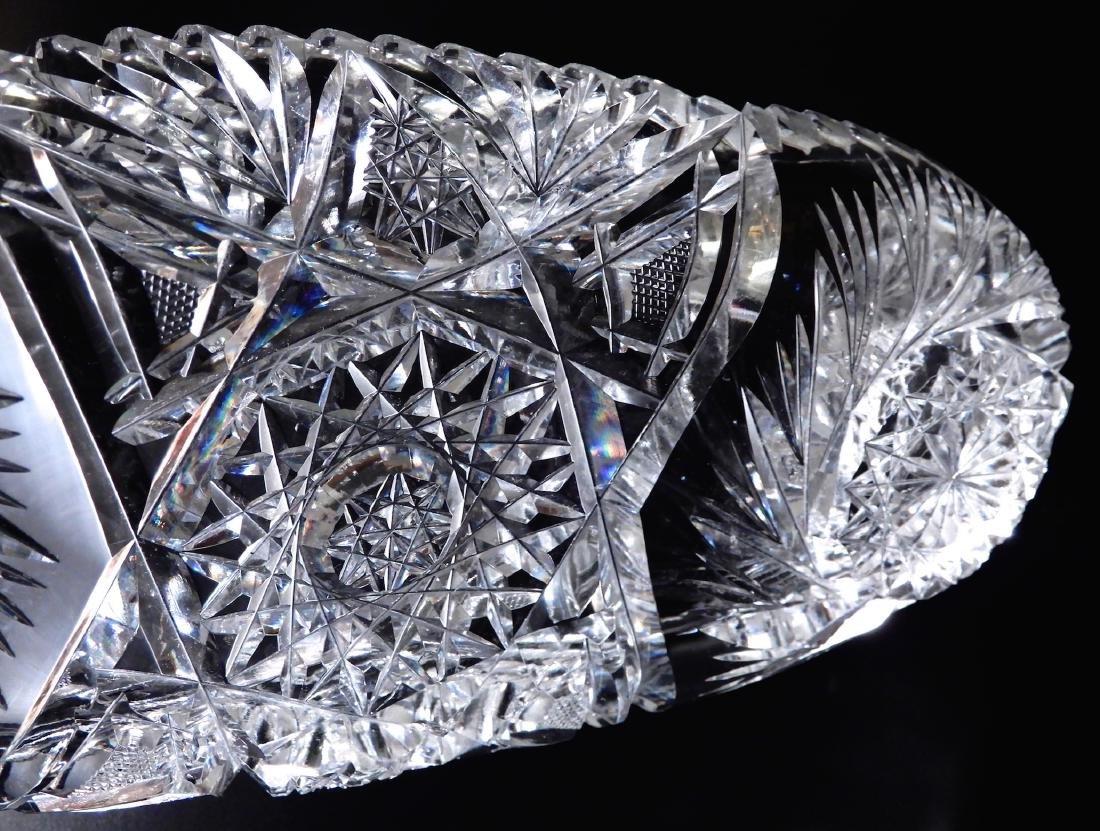 American Brilliant Period Pinwheel Cut Crystal Tray - 5