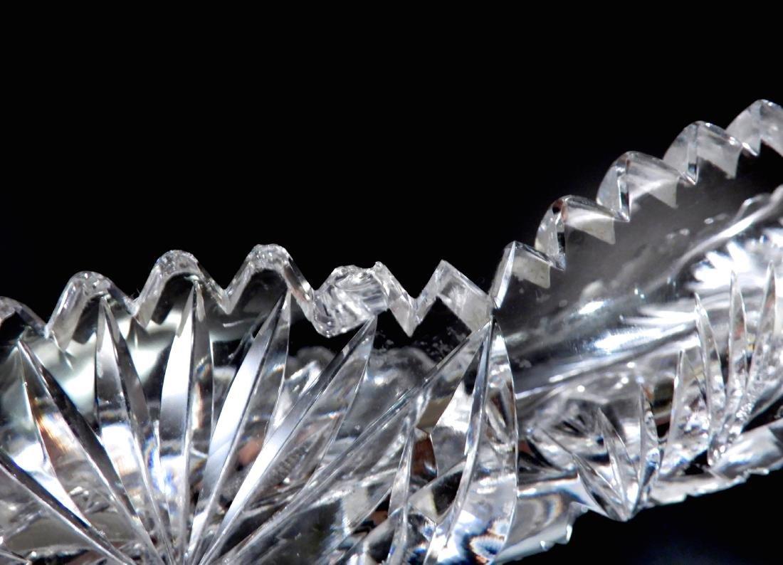 American Brilliant Period Pinwheel Cut Crystal Tray - 6