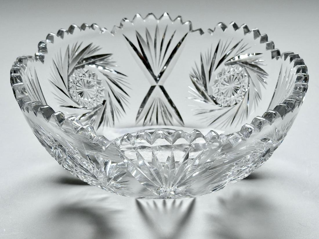 Vintage Cut Glass Crystal Bowl