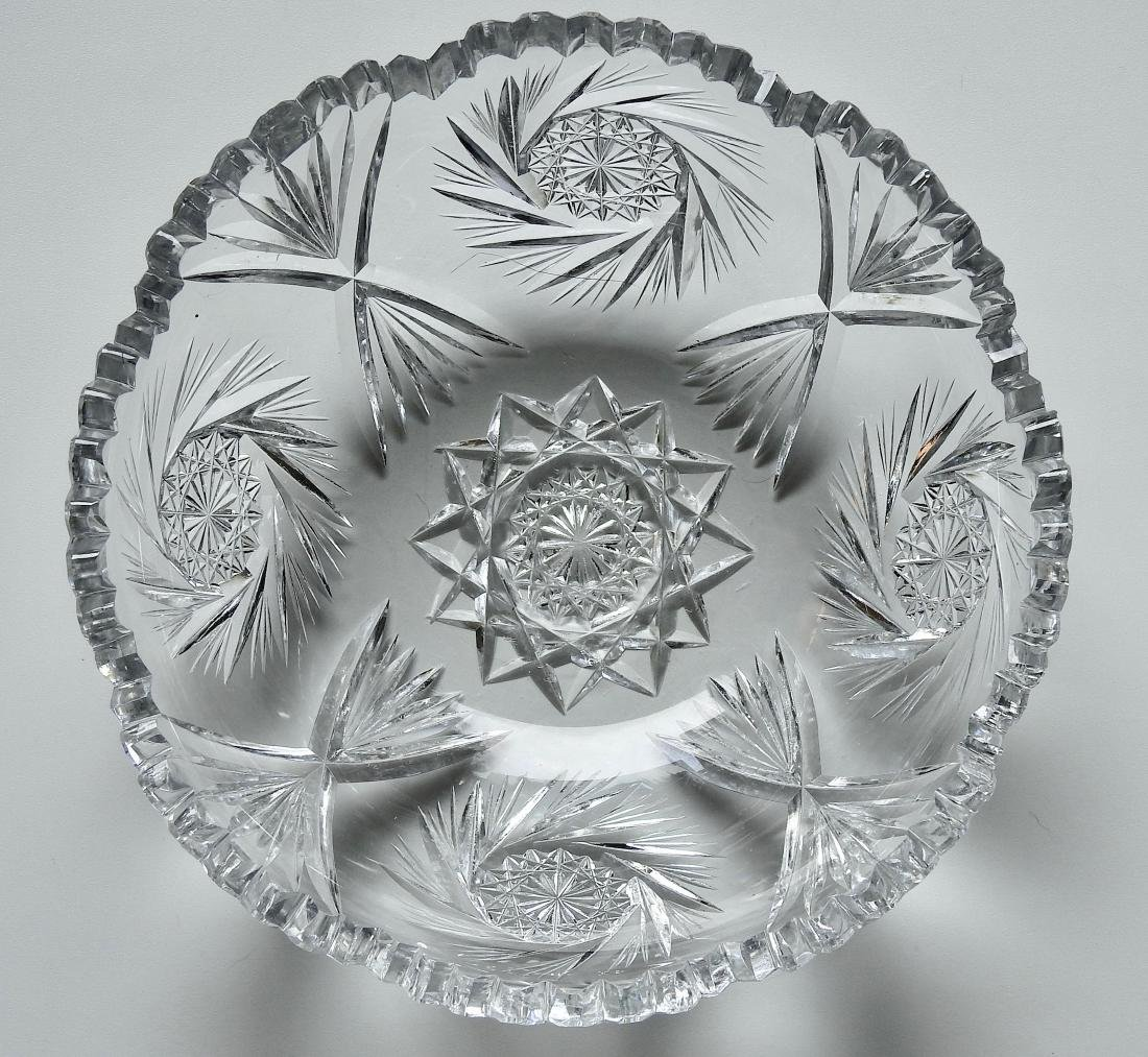 Vintage Cut Glass Crystal Bowl - 2