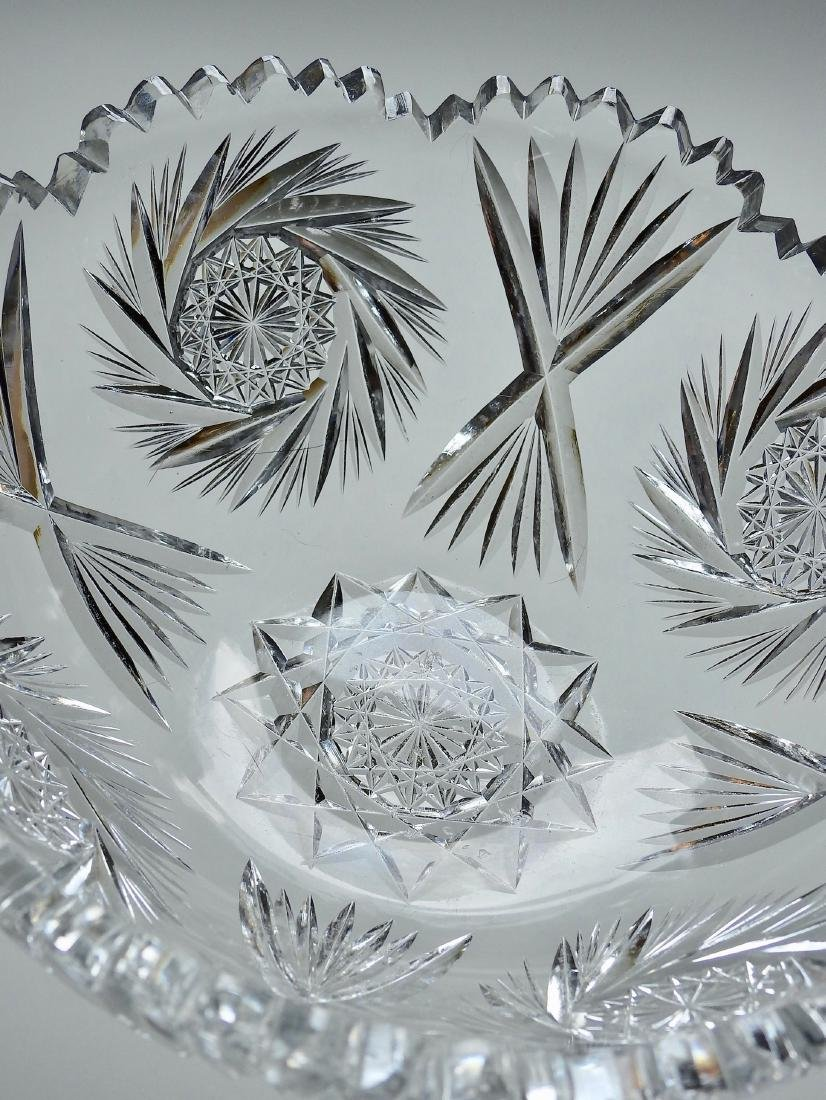 Vintage Cut Glass Crystal Bowl - 4