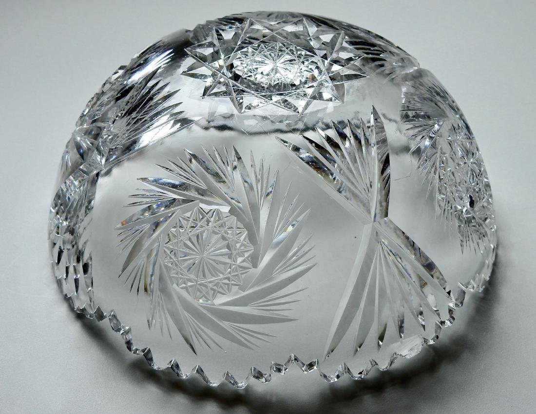 Vintage Cut Glass Crystal Bowl - 5
