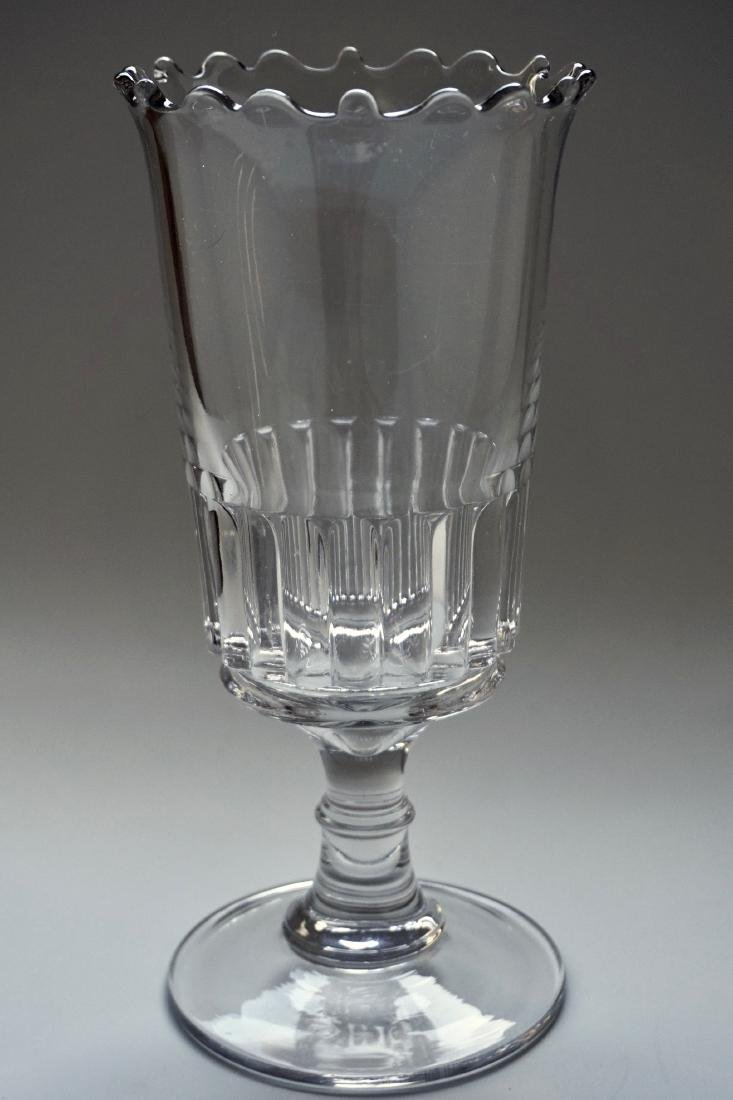 Antique 19th Century Wafer Knop EAPG Celery Vase Clear