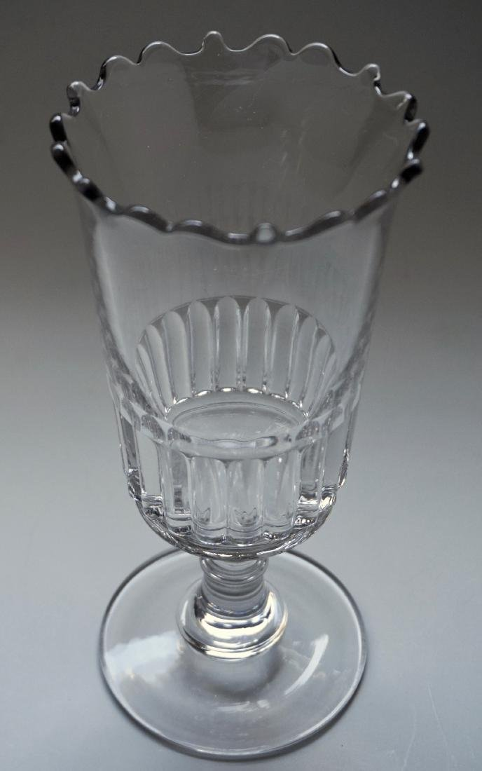 Antique 19th Century Wafer Knop EAPG Celery Vase Clear - 2