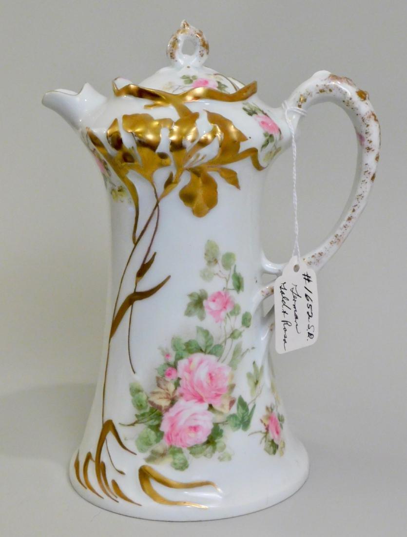 Antique Art Nouveau German Jugendstil Porcelain Pot