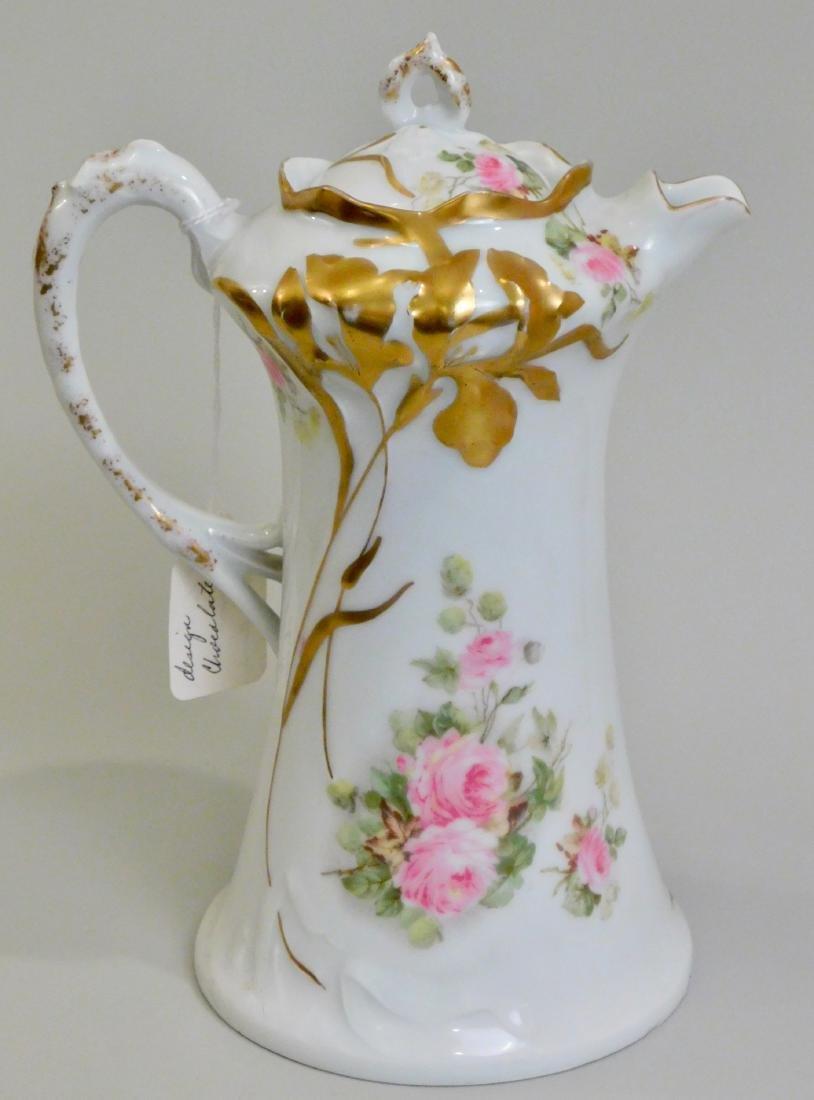 Antique Art Nouveau German Jugendstil Porcelain Pot - 2