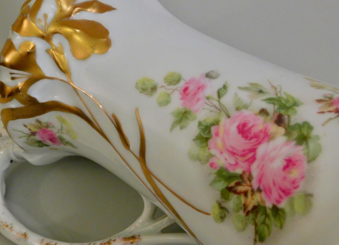 Antique Art Nouveau German Jugendstil Porcelain Pot - 5