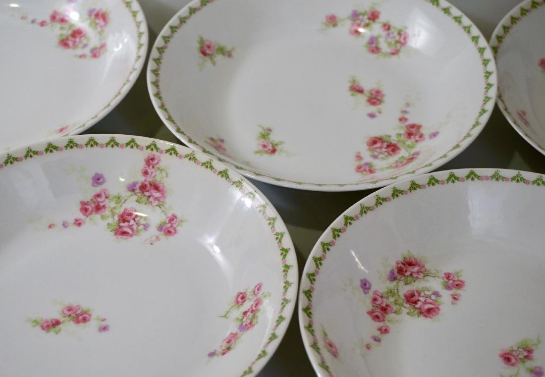 Antique French Porcelain Limoges Soup Bowls Plate Set - 2