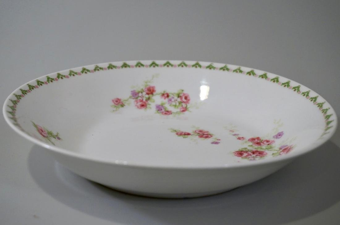 Antique French Porcelain Limoges Soup Bowls Plate Set - 3