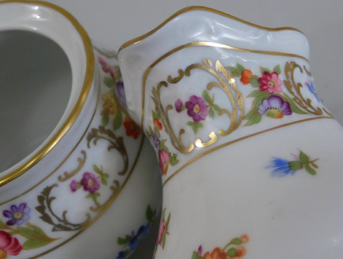 Empress Dresden Flowers Schumann Arzberg Sugar Creamer - 5