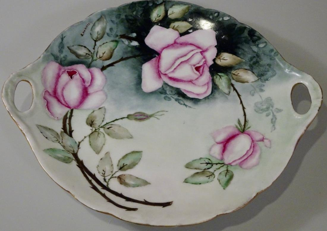 J.P. Limoges France Hand Painted Artist Signed Handled