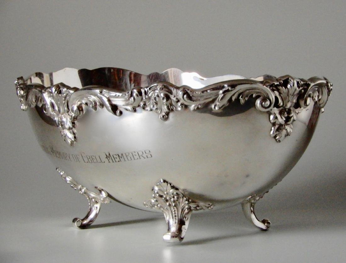 Ebell Club Silver Plate Oval Bowl Centerpiece - 2