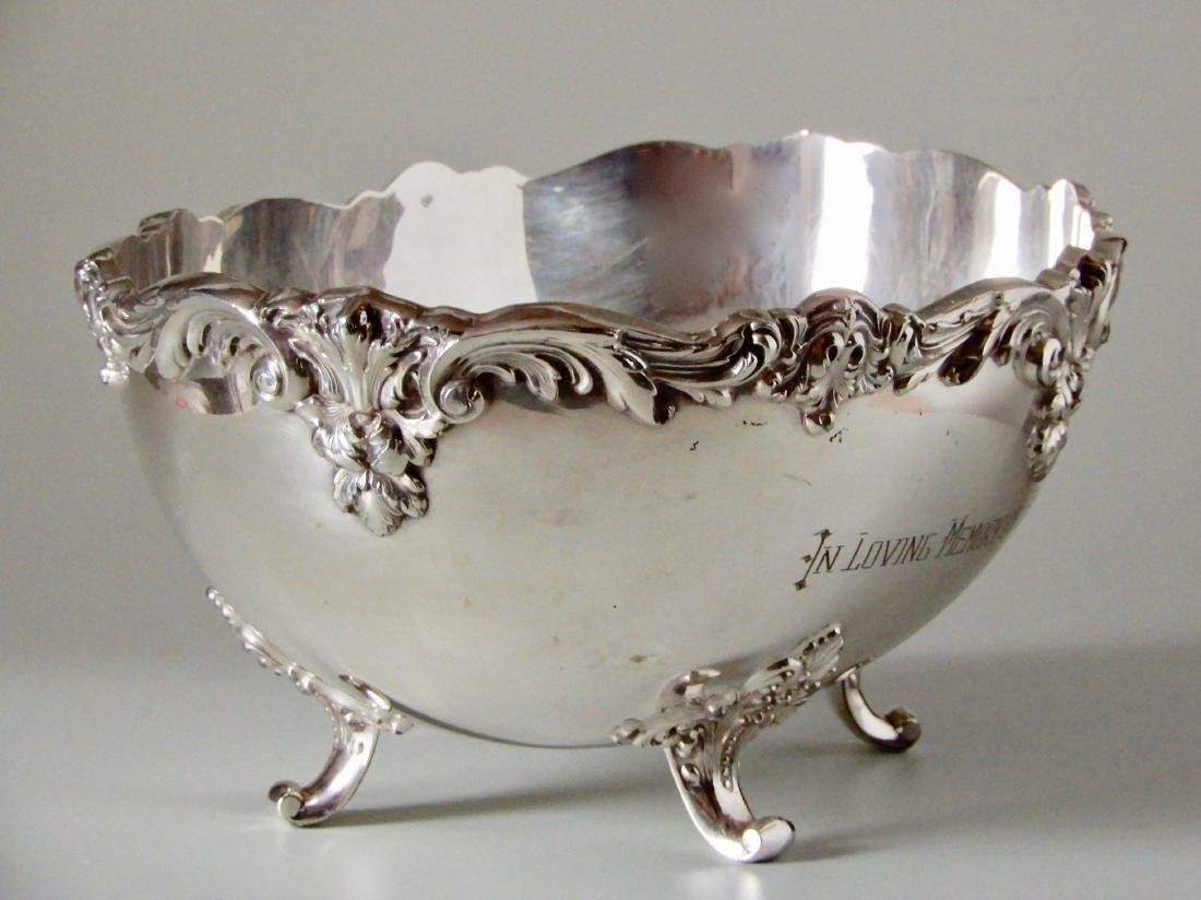 Ebell Club Silver Plate Oval Bowl Centerpiece - 3