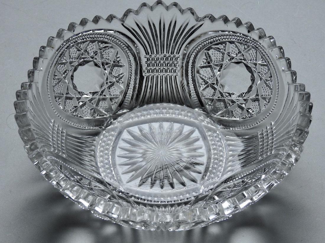 Vintage EAPG Glass Serving Bowl