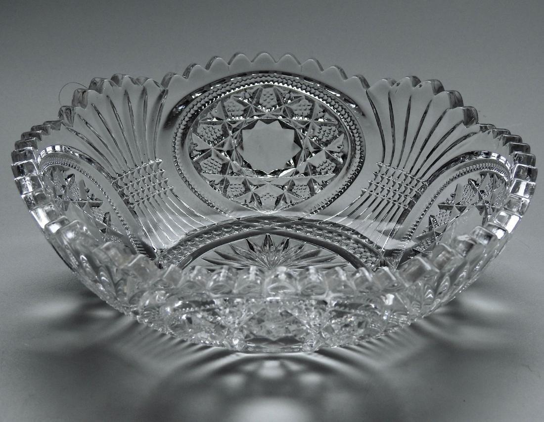 Vintage EAPG Glass Serving Bowl - 2
