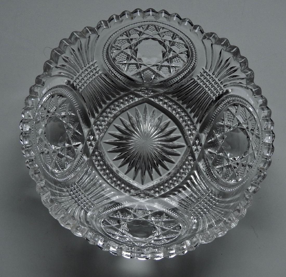 Vintage EAPG Glass Serving Bowl - 3