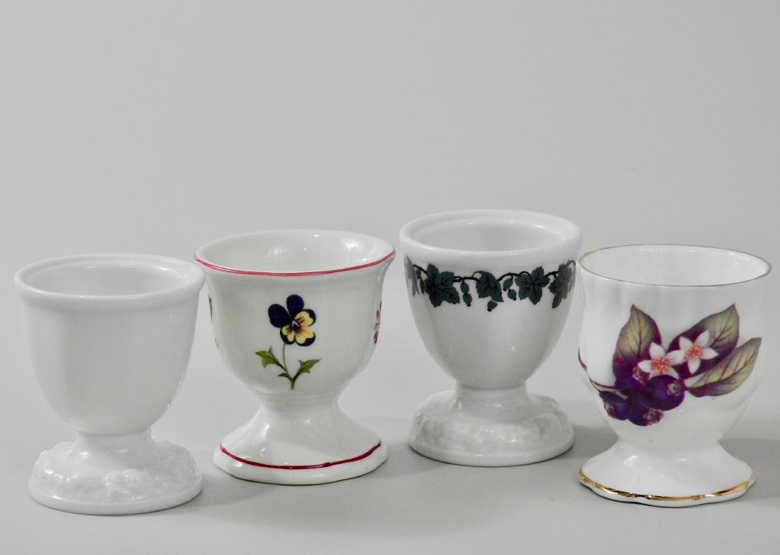 Lot of 4 Egg Serving Cups Villeroy and Boch English