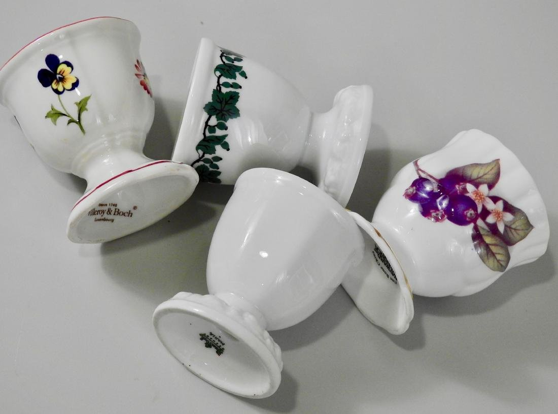 Lot of 4 Egg Serving Cups Villeroy and Boch English - 3
