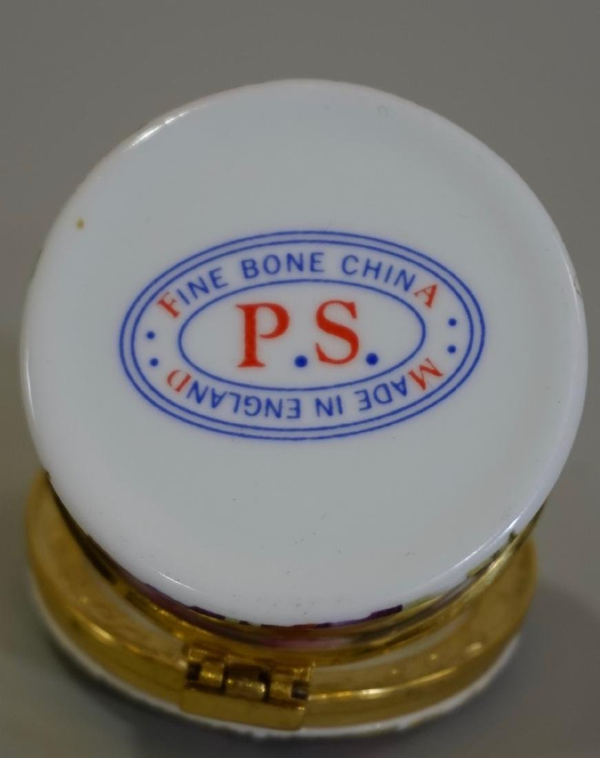 PS Fine Bone China English Round Pill Trinket Box - 4