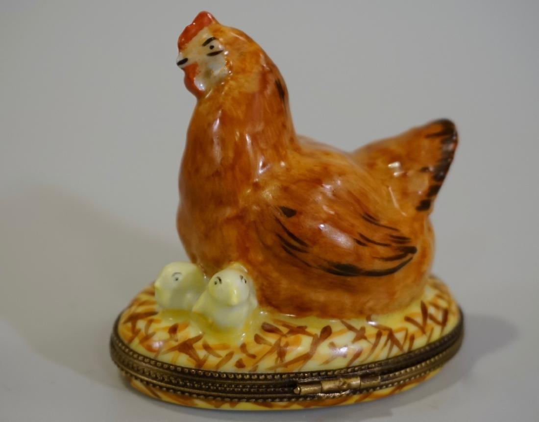 Limoges France Porcelain Figural Hen Chicken Box