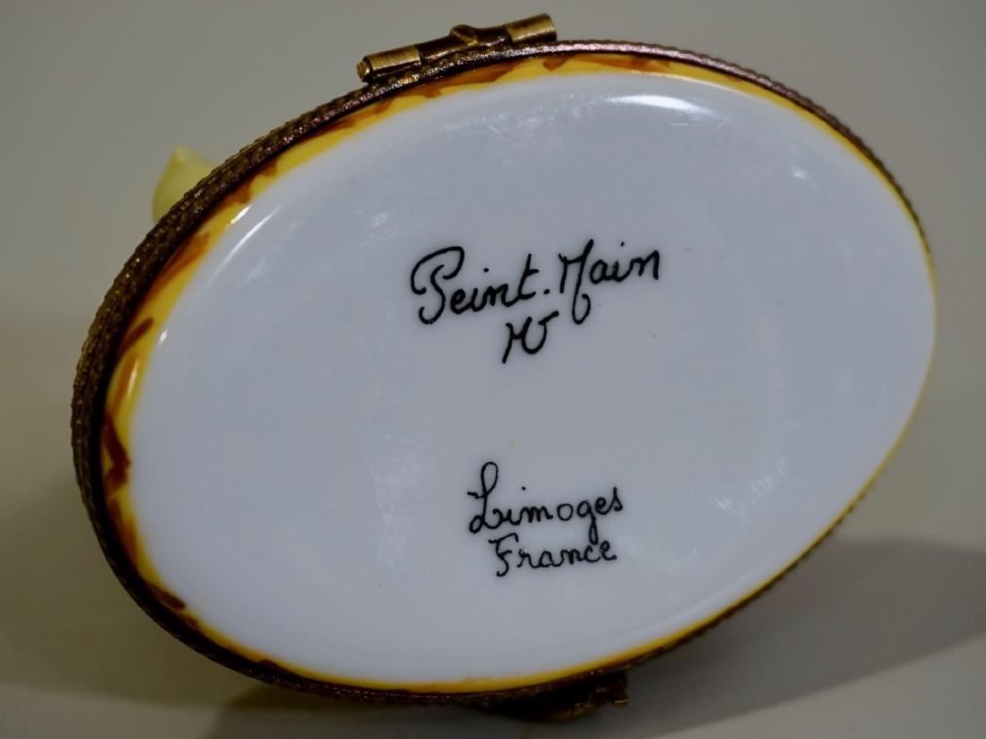 Limoges France Porcelain Figural Hen Chicken Box - 6