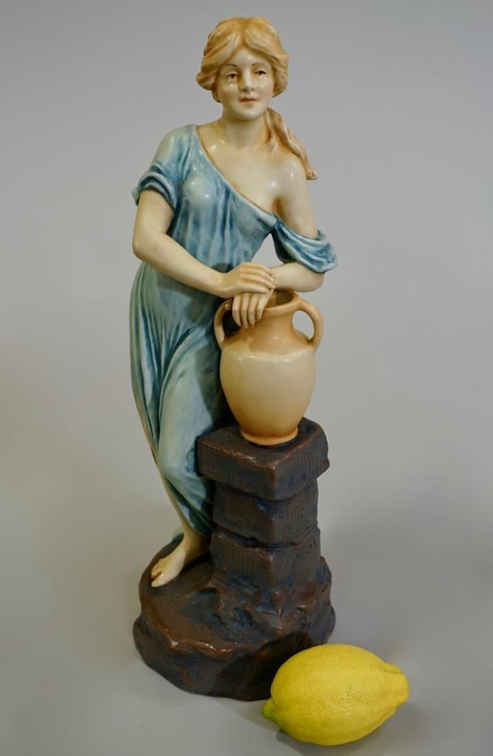 Large Antique Amphora Style Art Nouveau Porcelain