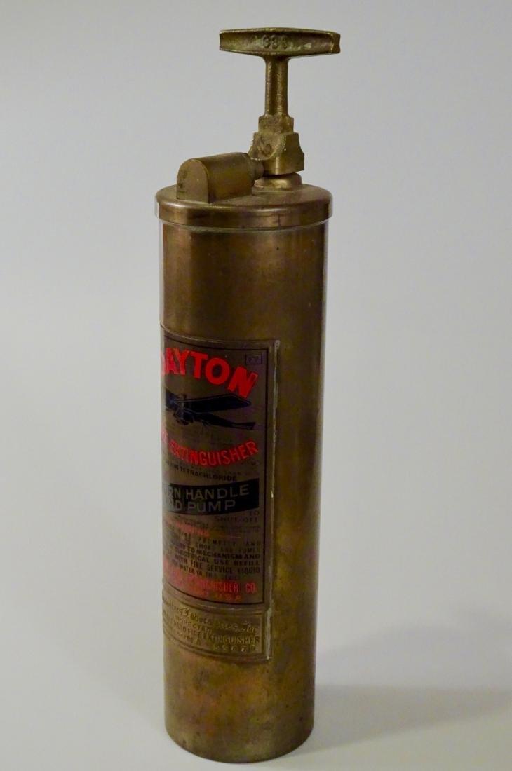 Rare Vintage Dayton Brass Fire Extinguisher Discharged