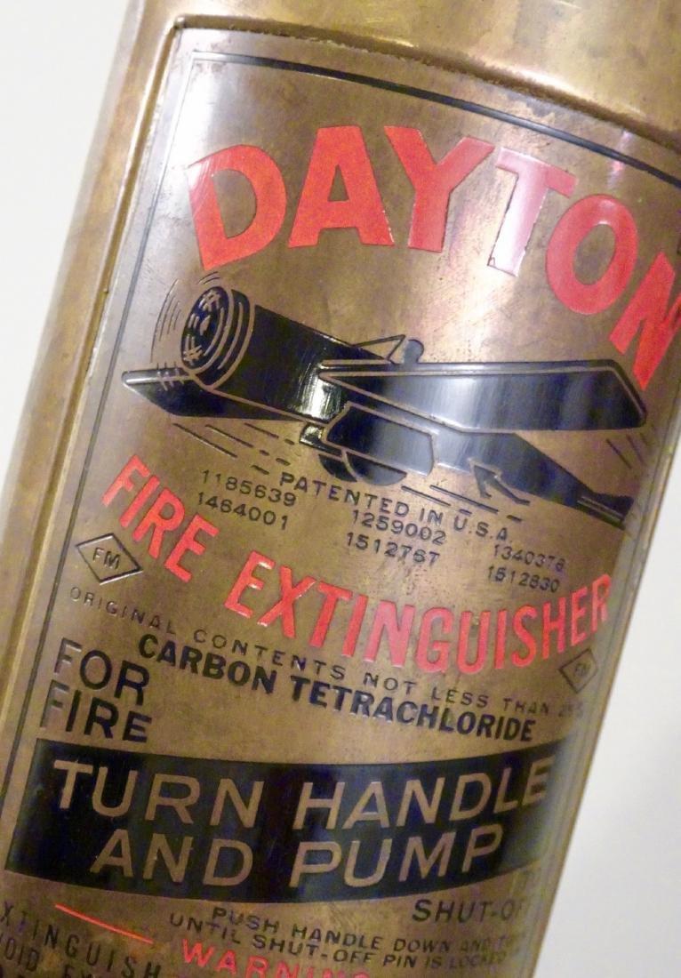 Rare Vintage Dayton Brass Fire Extinguisher Discharged - 2