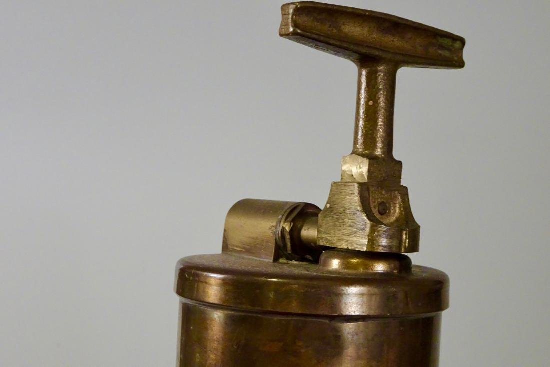 Rare Vintage Dayton Brass Fire Extinguisher Discharged - 3
