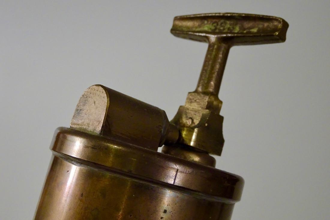 Rare Vintage Dayton Brass Fire Extinguisher Discharged - 4