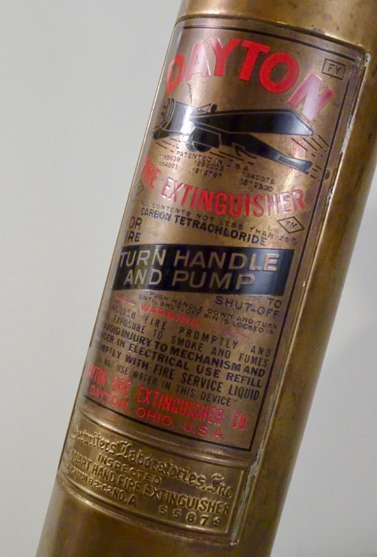 Rare Vintage Dayton Brass Fire Extinguisher Discharged - 5