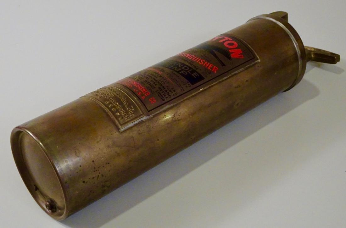 Rare Vintage Dayton Brass Fire Extinguisher Discharged - 7