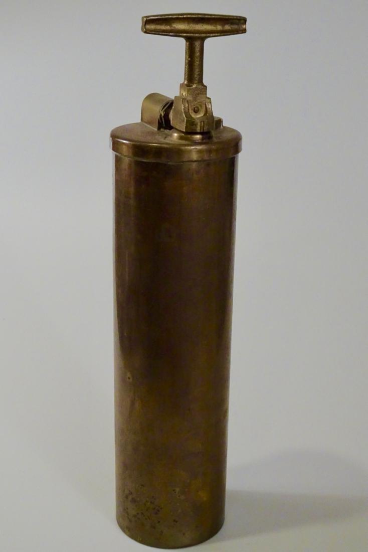 Rare Vintage Dayton Brass Fire Extinguisher Discharged - 8