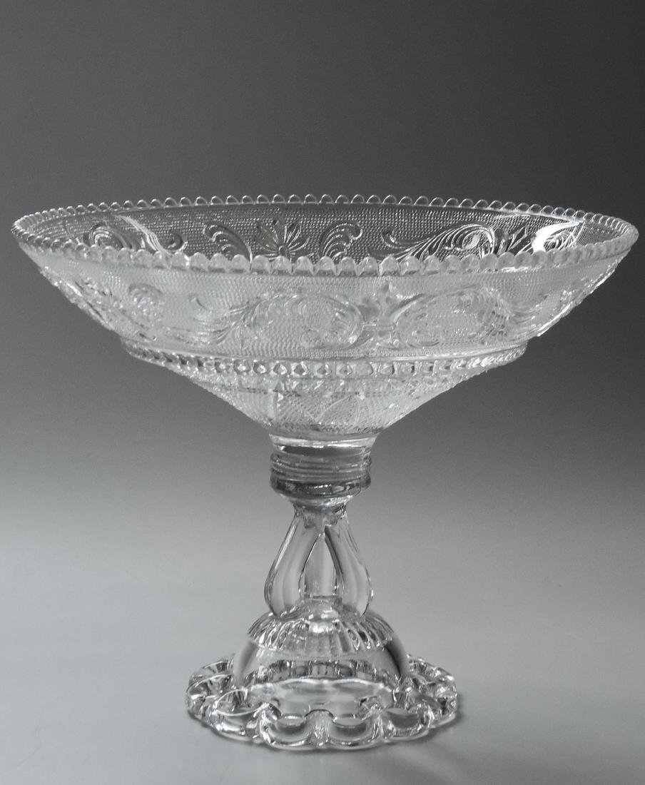 EAPG Pressed Glass Compote