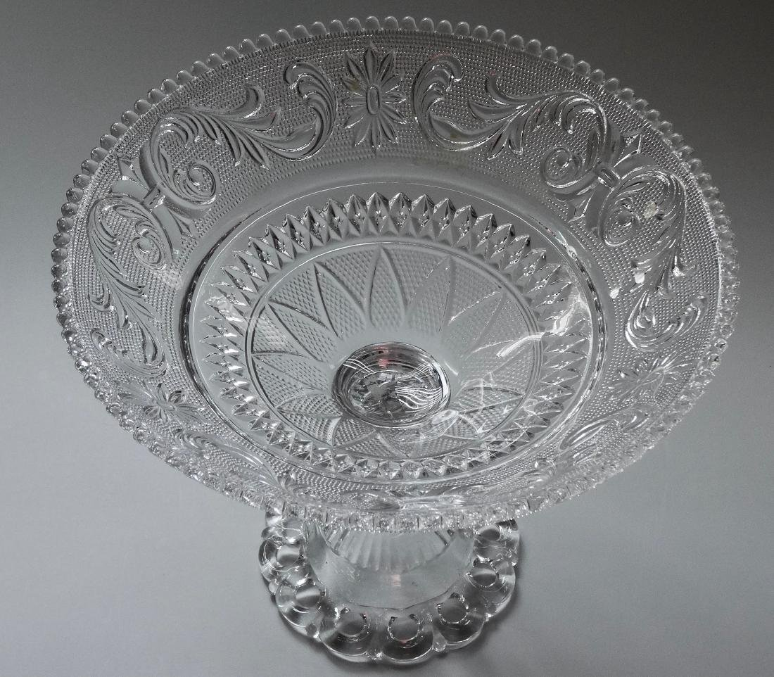 EAPG Pressed Glass Compote - 2