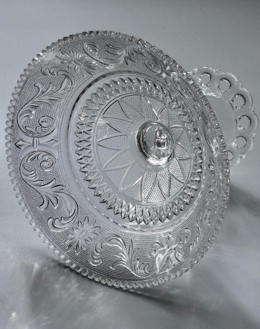EAPG Pressed Glass Compote - 5