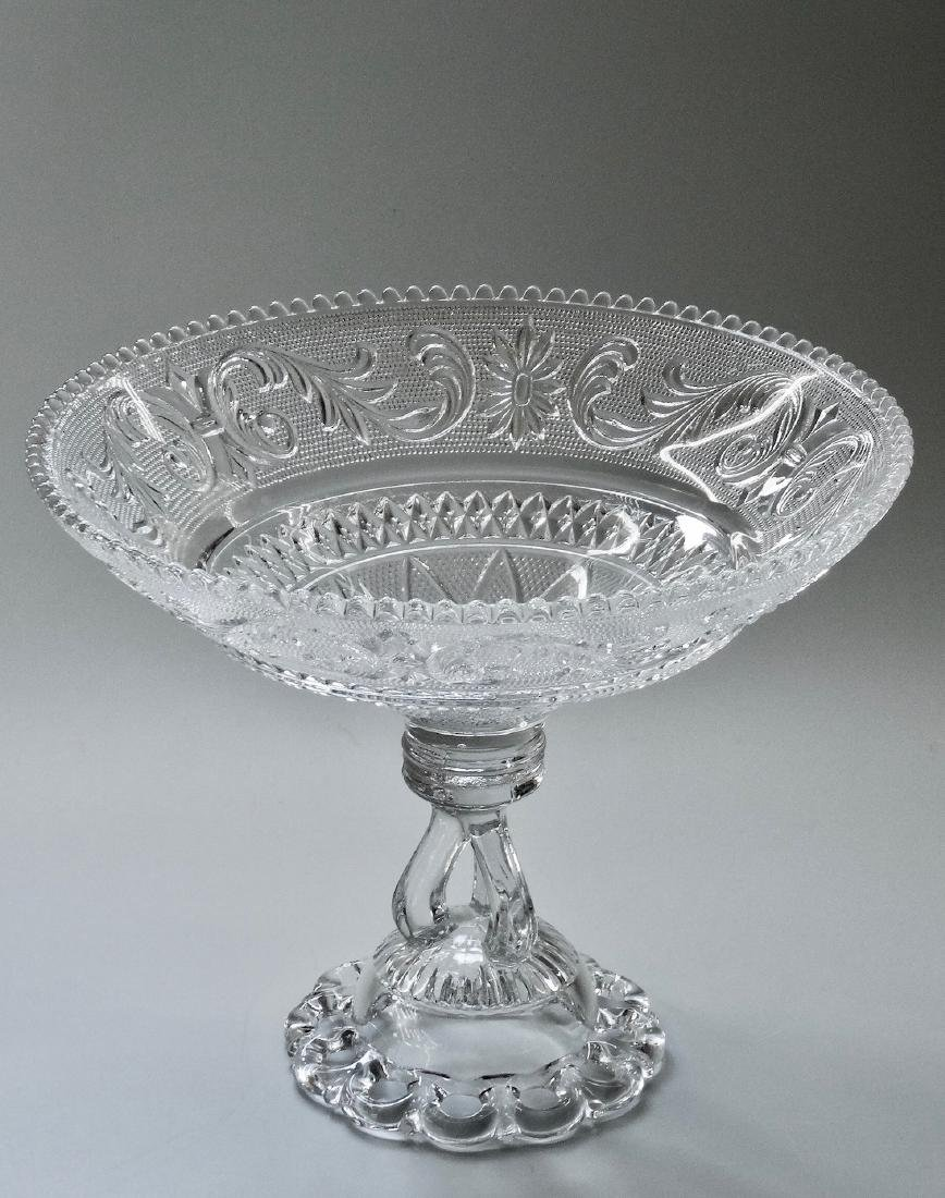 EAPG Pressed Glass Compote - 9