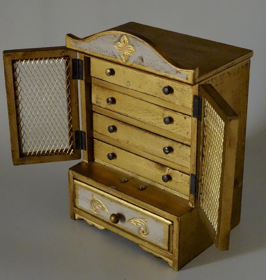 Florentine Style Jewelry Chest Music Box Sinatra Song