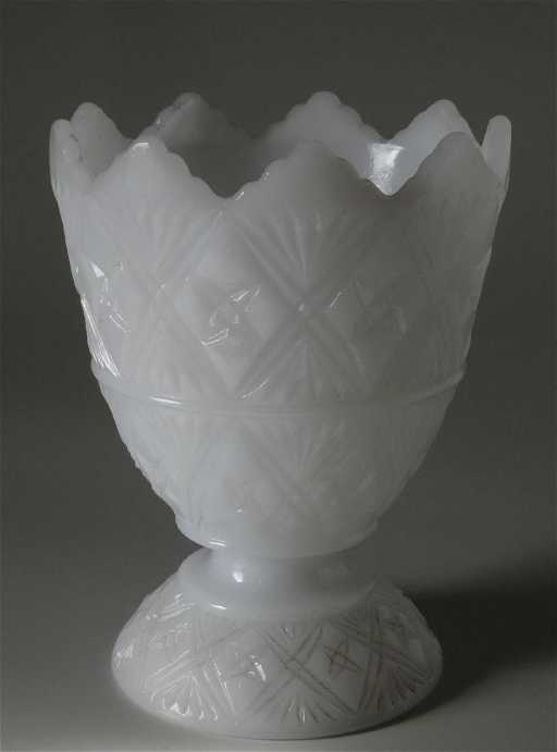 Milk Glass Egg Star Vase Cleveland Ohio Eo Brody Co