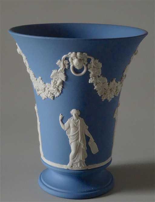 Wedgwood Blue Jasper English Vase
