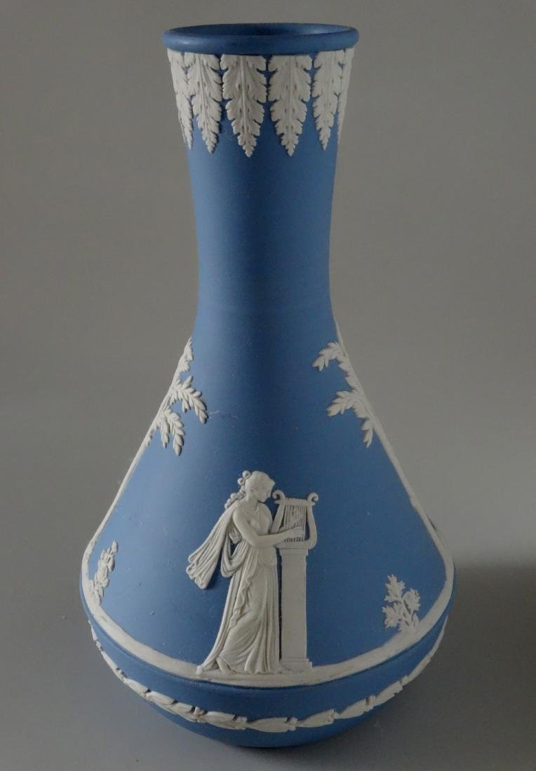 Wedgwood England Blue Jasper Budvase Flower Vase